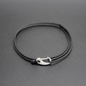 Micro Tactical Cord Adjustable Bracelet in Black