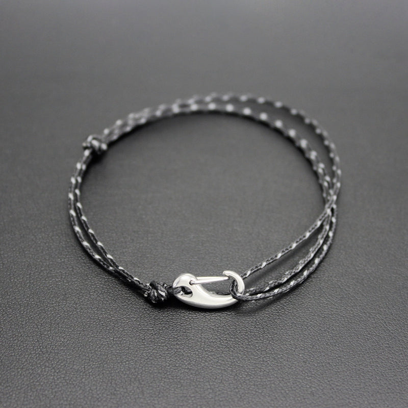 Micro Tactical Wrap Bracelet // Black Reflective