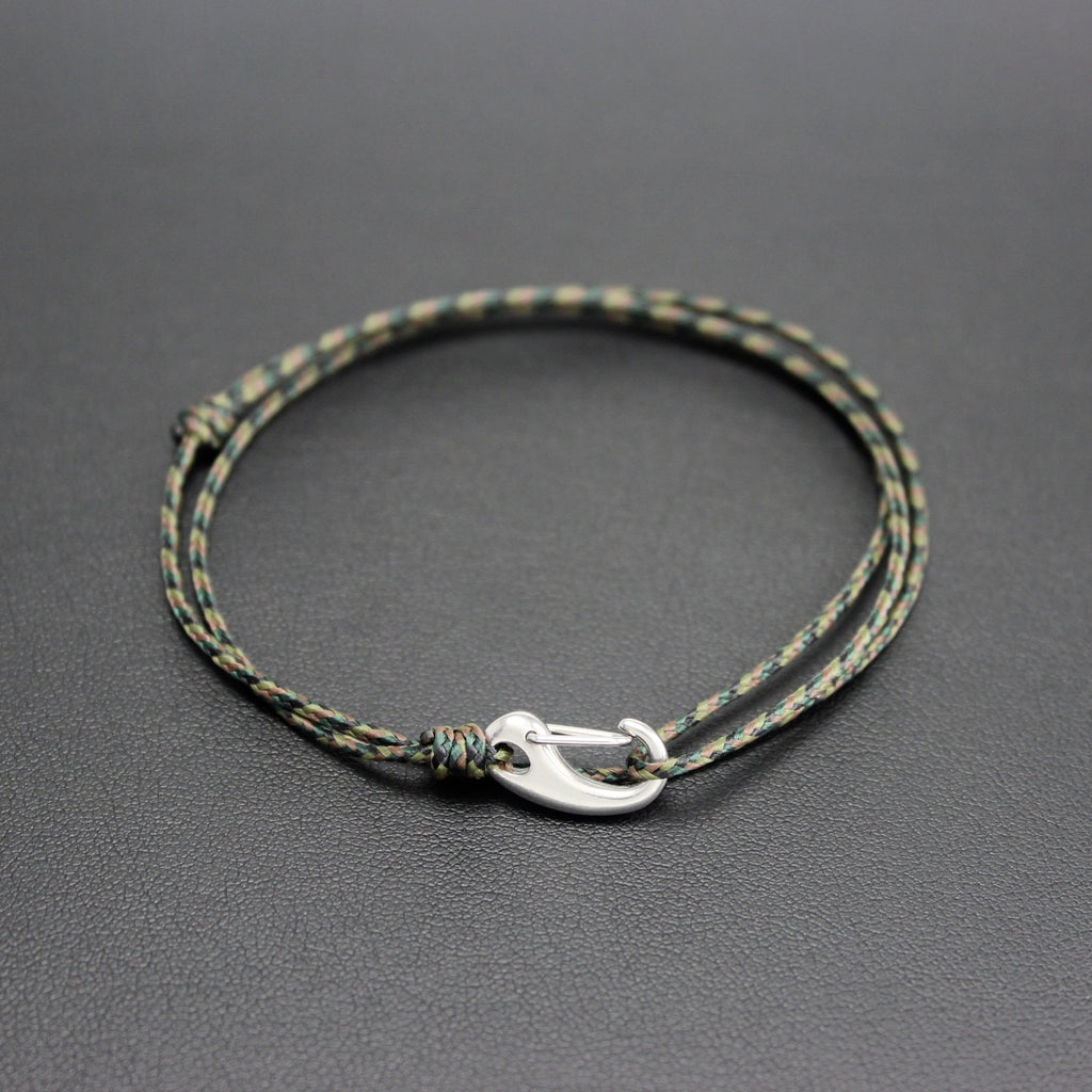 Men's Micro Cord Adjustable Bracelet in Camo