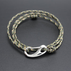 Men's Tactical Cord and Stainless Steel Bracelet in Camo