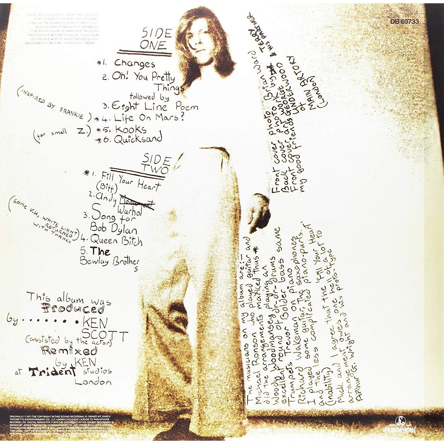 HUNKY DORY (2015 REMASTERED VERSION) (VINYL) LIMITED EDITION, ORIGINAL RECORDING REMASTERED - Vinyl Sound