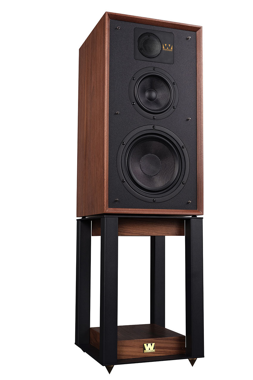 WHARFEDALE LINTON HERITAGE SPEAKERS WITH MATCHING STANDS