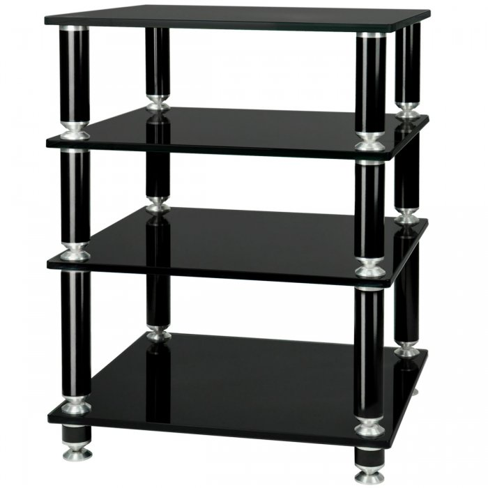 NorStone Stabble Four Glass Shelf Hi-Fi Audio Rack