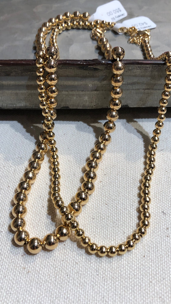 Bead Necklace Gold Filled