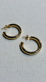 Hollow Tube Gold Filled Hoops -Medium
