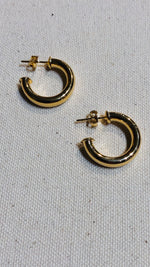 Hollow Tube Gold Filled Hoops -small