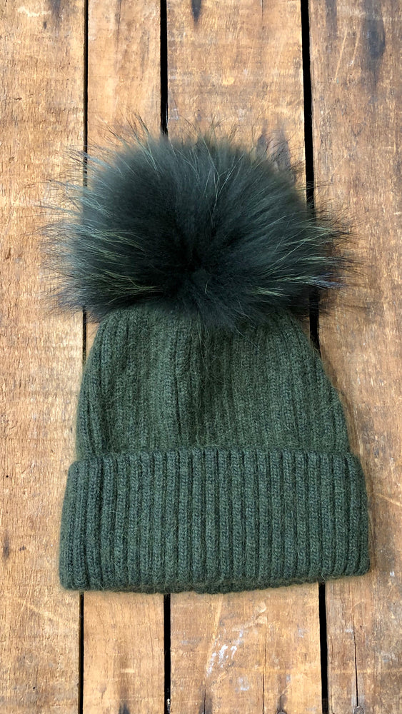 Hunter Green Pom Hat