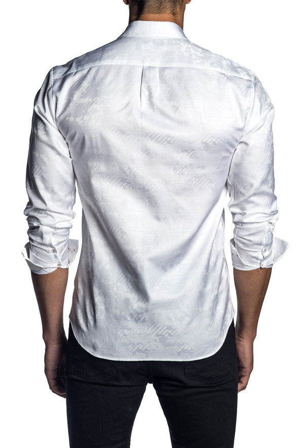 Military Abstract Shirt White