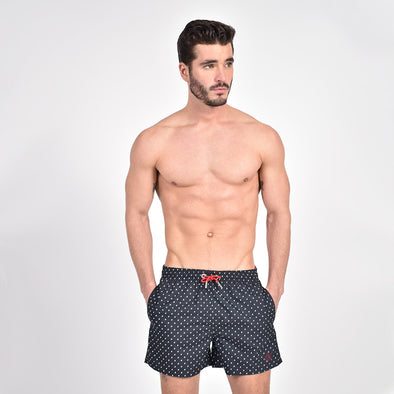 Black Dot Print Trunks