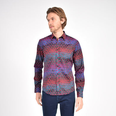 Jazz Flocking Print Shirt