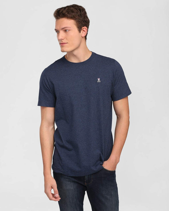 Men's Crew Neck Tee - Heather Navy