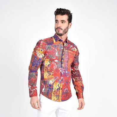 Multi Color Stucco Painting Shirt