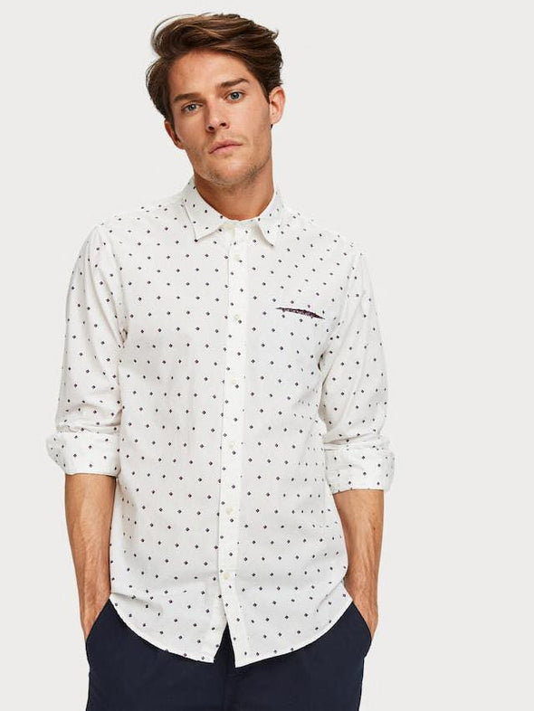Printed Chest Pocket Shirt  Regular fit