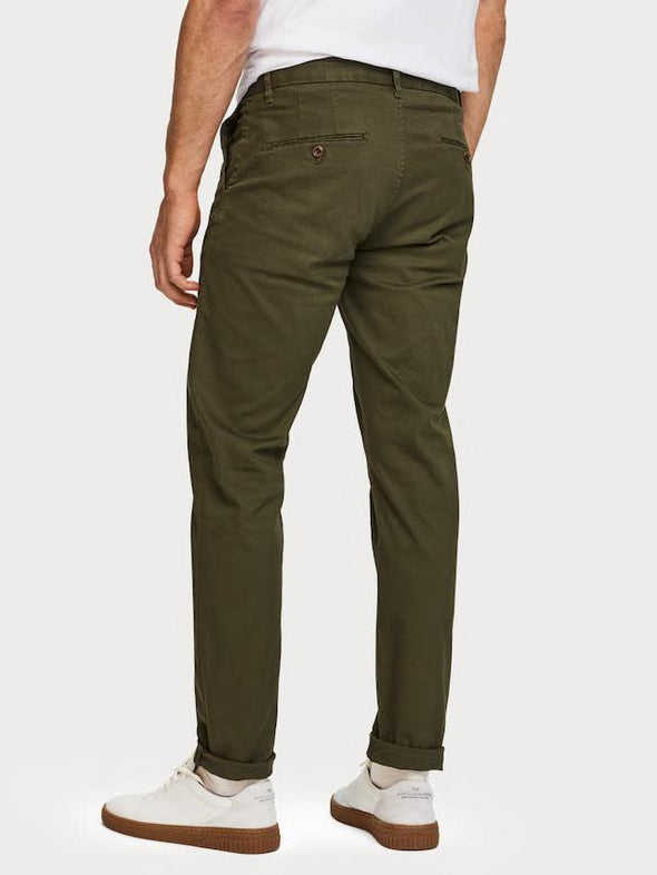 Stuart - Stretch Cotton Chinos - Military