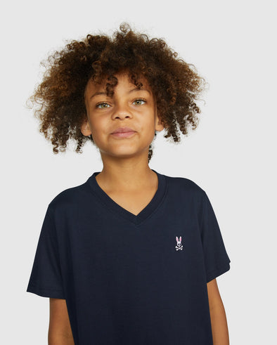 Boys Tshirt V Neck - Navy