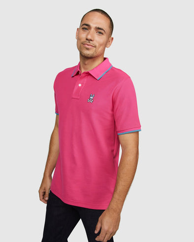 Men's Polo Kensington - Pink Yarrow