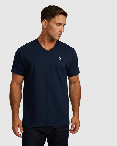 Men's V Neck Tee - Navy