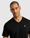 Men's V Neck Tee - Black