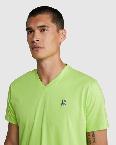 Men's V Neck - Neon Lime