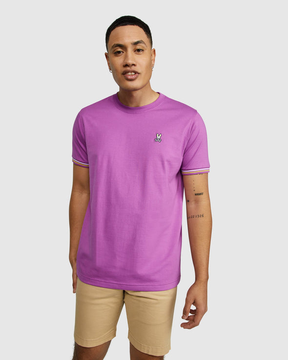 Men's Tipped Tee Norbury - Neon Violet