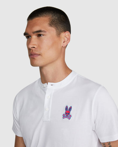 Men's Henley Tee Grafton - White