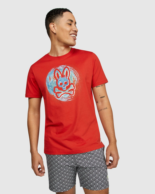 Men's Graphic Tee Downey - Brilliant Red