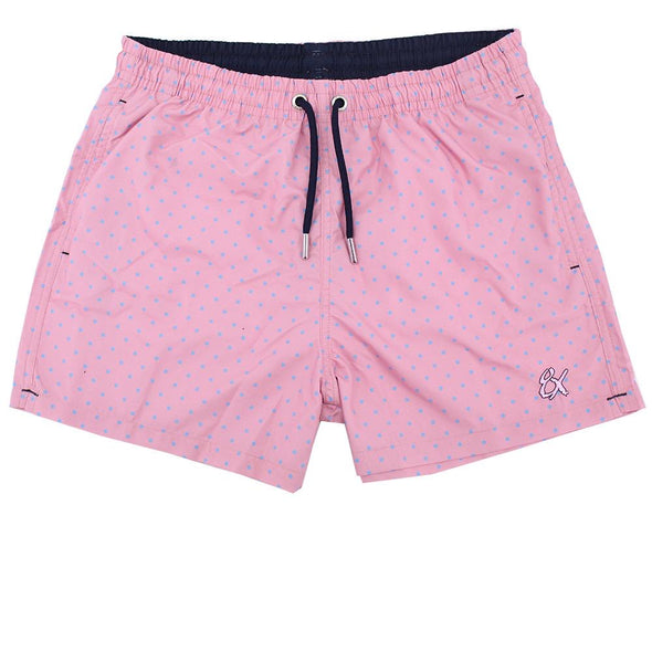 Pink Dot Print Trunks