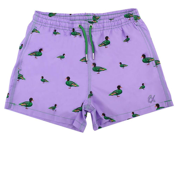 Lilac Duck Print Trunks