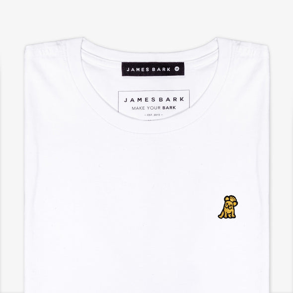Classic Frenchie T-shirt - White/Gold