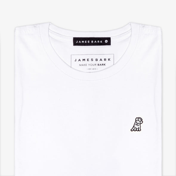 Classic Frenchie T-shirt - White/White