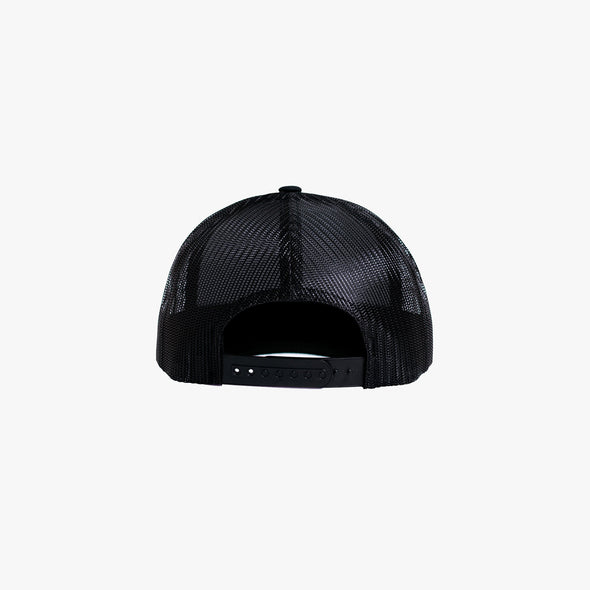 James Bark  Cap with Round Patch - Black/Red
