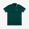 Frenchie Neck Detail Polo - Pine/White