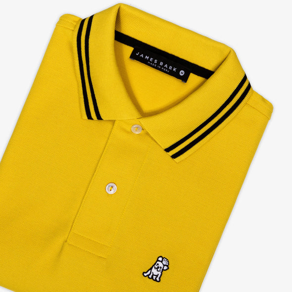 Frenchie Neck Detail Polo - Yellow/White