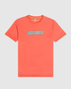 Men's Graphic Tee Rushup Reflective - Neon Coral
