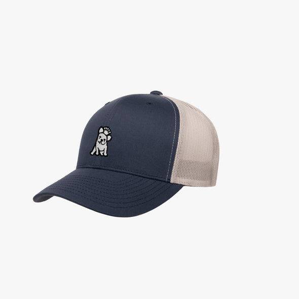 James Bark Retro Trucker Cap - Navy/White