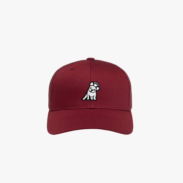 James Bark Retro Trucker Cap - Cranberry