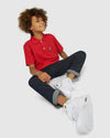 Boys Classic Polo - Brilliant Red
