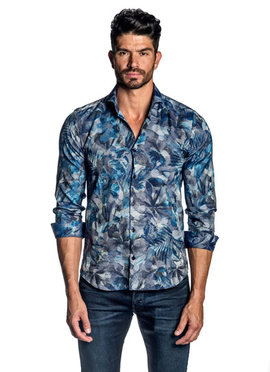 Blue Abstract Shirt