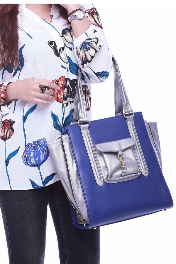 Exclusive Zara Tote in Blue
