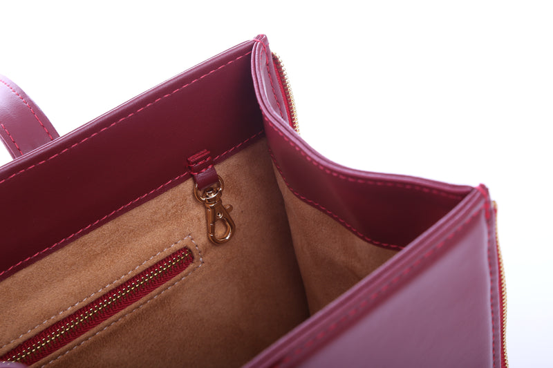 Signature Effy Document Bag in Red