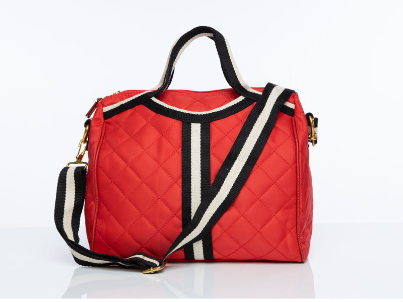 Signature Kate Travel Bag in Red