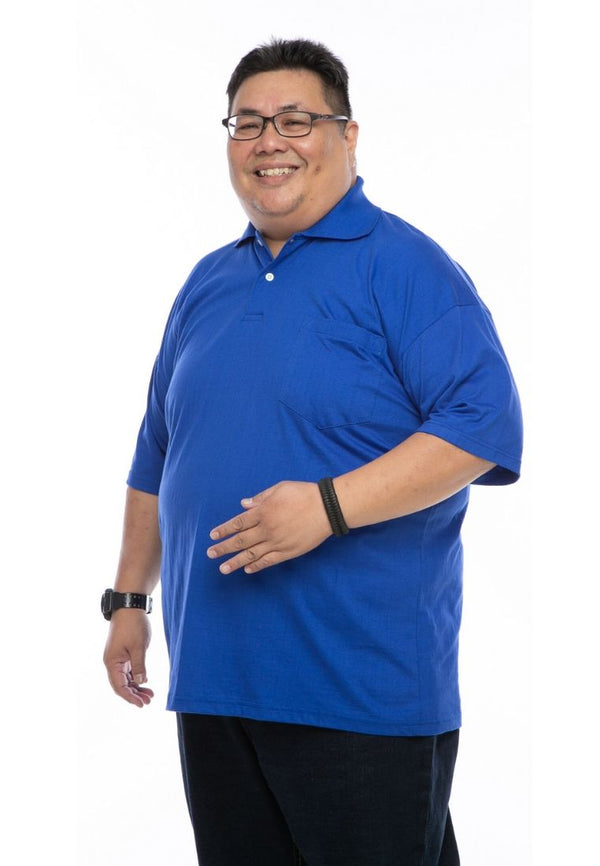 baju saiz besar plus size shirt mr big polo t-shirt in royal blue #Color_Royal Blue