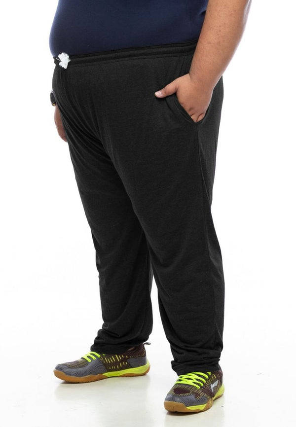 seluar saiz besar plus size pants long sweatpants in black #Color_Sweatpants Black