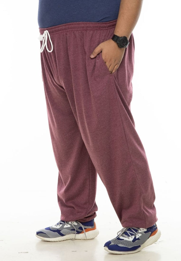 seluar saiz besar plus size pants long sweatpants in maroon #Color_Sweatpants Maroon