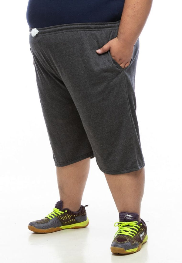seluar saiz besar plus size pant 3/4 sweatpants in dark grey #Color_sweatpants Dark Grey