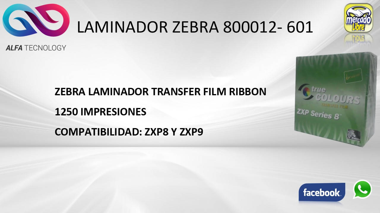 RIBBON ZEBRA 800012-601 - APE-Plazas