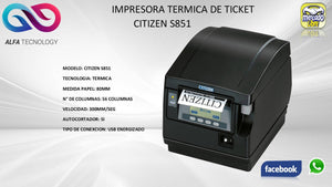 IMPRESORA DE TICKET TERMICA CITIZEN S851 - APE-Plazas