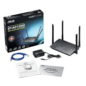 Router Asus RT-AC1200 wireless 1200 mbps, usb - APE-Plazas