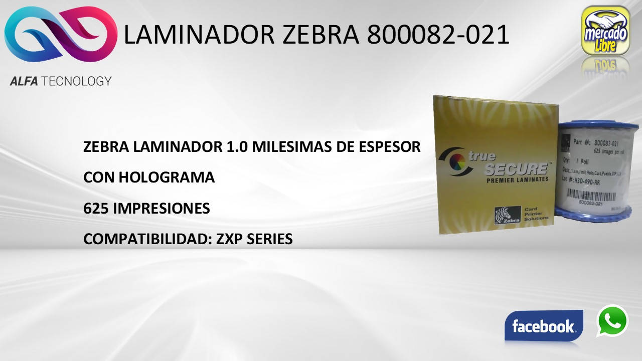 RIBBON ZEBRA 800082-021 - APE-Plazas