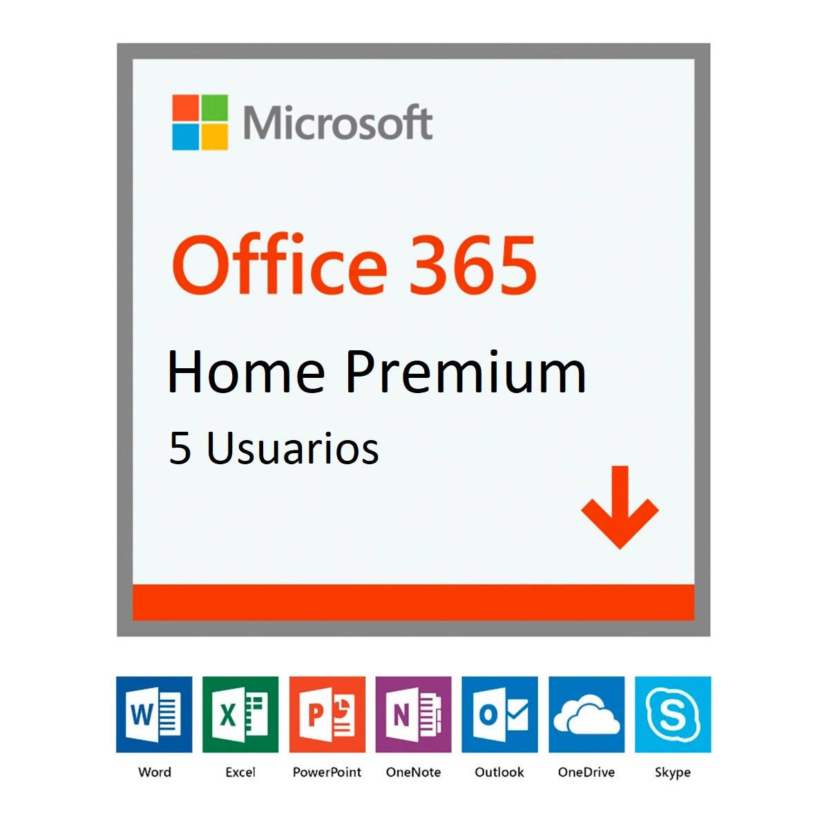 Office 365 Home Premium 5 Usuarios, Original #Parte 6gq-00088 ESD - APE-Plazas